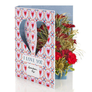 """flowercard.co.uk valentines's day """"i love you flowercard"""""""