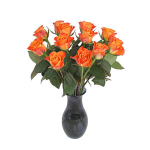 A Dozen Orange Roses Giftwrap