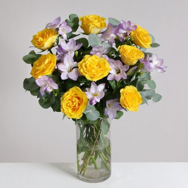 Rose & Freesia Bouquet - flowers